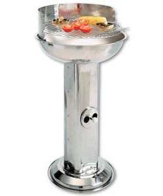 Stainless Steel Round Pedestal BBQ