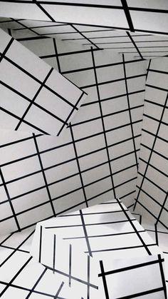 Arte y Arquitectura: Installations / Esther Stocker Esther Stocker, Textures Patterns, Print Patterns, Creation Image, Instalation Art, Geometric Art, Optical Illusions, Contemporary Art, Design Inspiration