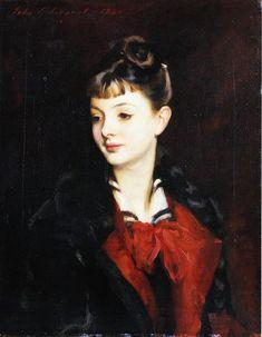 Portrait of Mademoiselle Suzanne Poirson - Sargent John Singer