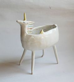Unicorn bowl by clayopera