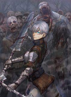 Título: zombie hunter  Artista: Myungjin Kim