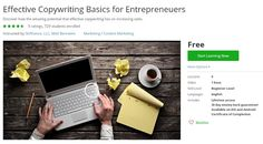 Coupon Udemy - Effective Copywriting Basics for Entrepreneuers (Free) - Course Discounts & Free