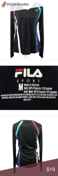 c208b5e3d6bca5 Fila Sport Dri-Fit Long Sleeve Shirt Fila Sport Women s Dri Fit Shirt Size  Med