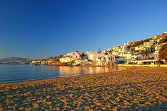 Greece Travel Guide - A travel and tourism guide describing the best places to visit in Mykonos, Greece. Features photographs and brief descriptions of popular travel destinations and interesting places to visit on the island of Mykonos. Greece Travel, Italy Travel, Greece Trip, Beautiful Places To Visit, Cool Places To Visit, The Places Youll Go, Places To Go, Mykonos Island Greece, Beaches In The World