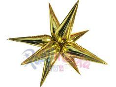 Altın Renk Kutup Yıldızı Folyo Balon