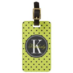 >>>Cheap Price Guarantee          Lime Green and Black Polka Dot with Black Monogram Tags For Bags           Lime Green and Black Polka Dot with Black Monogram Tags For Bags we are given they also recommend where is the best to buyThis Deals          Lime Green and Black Polka Dot with Blac...Cleck Hot Deals >>> http://www.zazzle.com/lime_green_and_black_polka_dot_with_black_monogram_luggage_tag-256347902638222168?rf=238627982471231924&zbar=1&tc=terrest