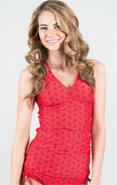 Coral Reef Top-- Anchors Away Red