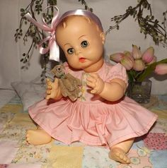 "1959 Effanbee 16"" All Vinyl Doll Multi Jointed BONUSES So Adorable 