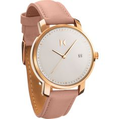 MVMT Women's Watch | Rose Gold/Peach Leather from Sportique
