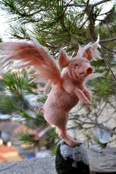 Nadel Gefilzte Tier. PIGASUS. Christmas Tree Topper.  Kundenspezifisch konfektioniert