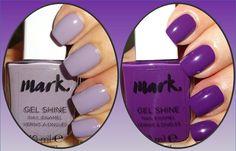 Wendy's Delights: Avon Mark Gel Shine Nail Polish - Lavender Sky & Purplicious @avonuk #avon #avonrep #avonnailpolish #avongelshine #avonmark