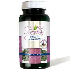 Figurella Beauty-Kräuter.Figurella® Beauty Kräuter Presslinge besitzen eine einzigartige Zusammensetzung an wertvollen Wildkräutern mit einem besonders hohen Anteil an sekundären Pflanzenstoffen.
