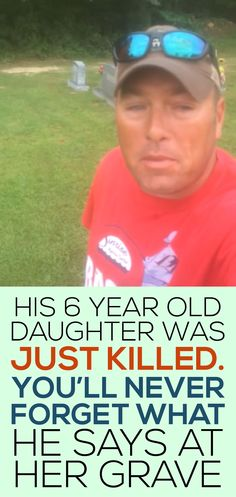 His 6 year old daughter was just killed, you'll never forget what he says at her grave!