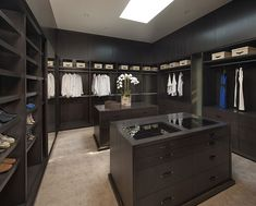 Modern walk in closet for Mansions