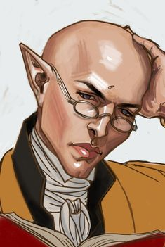 """fenedhislasagna: """" Solas as Stephen Maturin from Patrick O'Brian's Aubreyad series, to go with my Cullen as Jack Aubrey. If you don't know it, I highly recommend it. Sort of ran out of steam on this one– it's a full length portrait we'll….see if I..."""