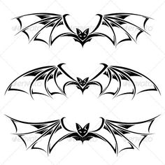 Bats — Vector EPS #night #drawing • Available here → https://graphicriver.net/item/bats/1246062?ref=pxcr