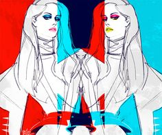 red blue by ieatcoffee