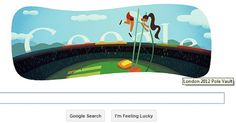 London Olympics 2012: Ninth Google Doodle Captures Pole Vault