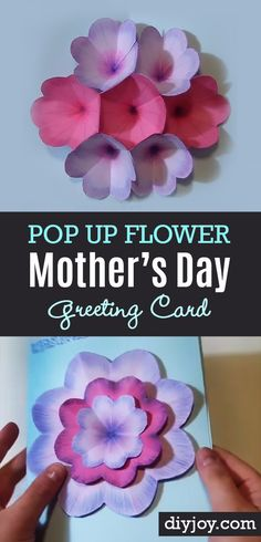 DIY Mothers Day Cards - Creative DIY Mothers Day Card With Pop Up Flowers  - Creative and Thoughtful Homemade Card Ideas for Mom - Step by Step Tutorials, Best Quotes, Handmade Projects http://diyjoy.com/diy-mothers-day-cards