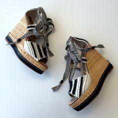 Sam Edelman Tie Up Wedges Sam Edeman tie up wedges - 4 3/4″ heel; 1 1/2″ pump. Sam Edelman Shoes Wedges