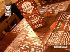#Restyling per Pub Stritt Menù A3 plastificati con cordonatura a 3 ante e Tovagliette sottopiatto con Stampa a colori