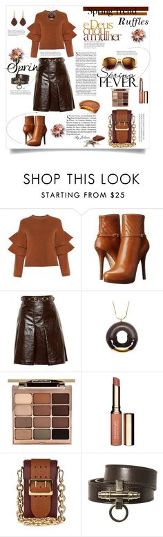 """""""What a Frill: Ruffles"""" by jelenalazarevicpo ❤ liked on Polyvore featuring MICHAEL Michael Kors, Wildfox, Gucci, Tadam!, Stila, Clarins, Burberry, Givenchy and H.AZEEM"""