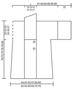 """Hold Me Close / DROPS 164-29 - Giacca DROPS ai ferri, a punto legaccio, a coste e con collo a scialle, in """"Polaris"""". Taglie: Dalla S alla XXXL. - Free pattern by DROPS Design"""