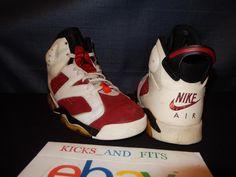9abaccf573dd VTG OG Nike Air Jordan 6 VI 1991 OG (Not Retro) White Carmine Black 10 not  retro