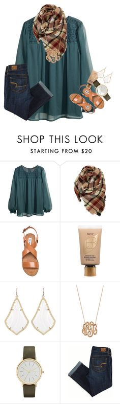"""in the best mood.."" by ellaswiftie13 ❤ liked on Polyvore featuring H&M, Evelyn K, Steve Madden, tarte, Kendra Scott, Ginette NY, Skagen and American Eagle Outfitters"