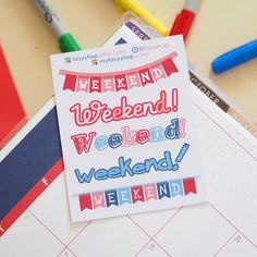 July - Weekend Banners by FasyShop on Etsy