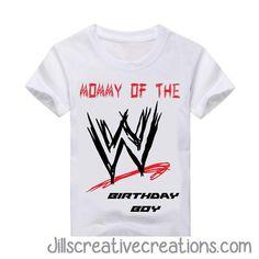 WWE T-Shirt Wrestling Birthday Parties, Wrestling Party, Wwe Birthday, 9th Birthday Parties, Brother Birthday, Birthday Boy Shirts, Birthday Party Decorations, Birthday Ideas, Themed Parties