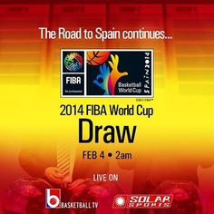 In here is info on how and where to watch the 2014 FIBA Basketball World Cup Draw live streaming online. The official draw of the 2014 FIBA Basketball World Cup will take place on Monday, February 3, at 7pm CET (2 AM, February 4 Manila Time) at the Palau de la Música Catalana, Barcelona.