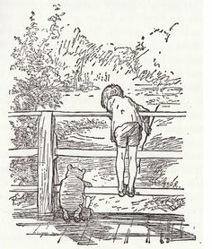 """""""Sometimes, if you stand on the bottom rail of a bridge and lean over to watch the river slipping slowly away beneath you, you will suddenly know everything there is to be known."""" – Winnie the Pooh    ...via petite alma."""