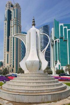 Futuristic Architecture, Amazing Architecture, Landscape Architecture, Architecture Design, Amazing Buildings, Modern Buildings, Qatar Travel, Qatar Doha, Tea Pots