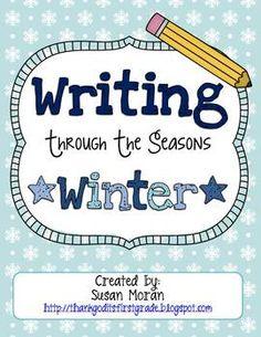 Writing Through the Seasons {Winter} - Susan Moran - TGIF - TeachersPayTeachers.com