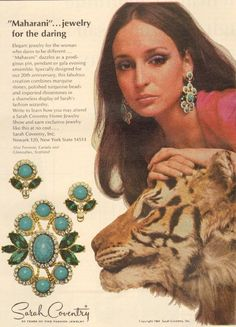 Sarah Coventry jewelry ad ''Maharani'' - loved this jewelry reminds me of premier only different era