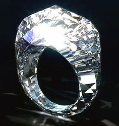 "March 23, 2012 | $70 Million Diamond Ring is First Ever to be Carved from a Giant Diamond ~ Jeweler Shawish has unveiled a $70-million diamond ring, the first to be carved from a giant diamond. Utilizing ""lasers and traditional diamond cutting and polishing techniques, the ring weighs in at an impressive 150 carats. 