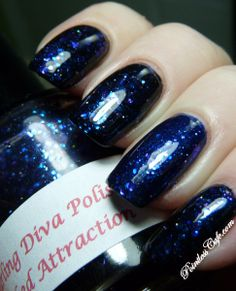 Darling Diva Polish Wicked Attraction (layered over black nail polish).