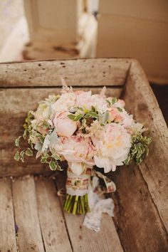 pink wedding bouquet http://www.weddingchicks.com/2013/10/28/vintage-wedding/