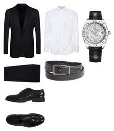 """""""#8"""" by outfit-men ❤ liked on Polyvore featuring Armani Collezioni, Giorgio Armani, Emporio Armani, Rolex, men's fashion and menswear"""