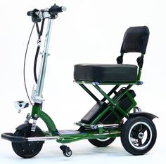 TRIAXE SPORT Foldable Electric Mobility Scooter  Cane  Cup Holder Green * Clicking on the image will lead you to find similar product