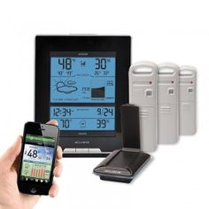 AcuRite Temperature and Humidity Environment System 921ES | This AcuRite Environment System includes an AcuLink Internet Bridge, a wireless weather station display, and three (3) indoor or outdoor Temperature and Humidity Sensors.