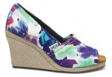 Purple Corbel Women's Wedges. Toms <3