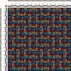 Drawdown Image: Figurierte Muster Pl. XXII Nr. 5 (a), Die färbige Gewebemusterung, Franz Donat, 2S, 2T
