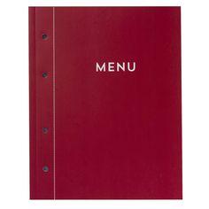 Planlægningskalender Menu rød