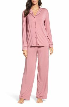 Main Image - Nordstrom Lingerie Moonlight Pajamas Best Pajamas, Cute Pajamas, Pajamas Women, Lace Midi Dress, Dress Up, Pijama Satin, Pyjamas, Pjs, Pajama Set