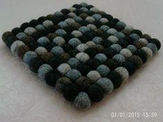 FeltNepal 3 Colored Square Felt Ball Coaster, 20cmX20cm, 6 Piece, $59.99 #Handmade