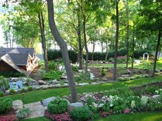 Tricia's garden in Minnesota--click through to see more photos of this garden. Landscaping A Slope, Landscaping Ideas, Sloped Garden, Fine Gardening, Garden Photos, More Photos, Photo Library, Outdoor Spaces, Minnesota