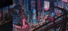 Night City Concept art from Vincenzo Natali's Neuromancer movie project