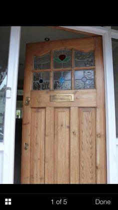 51 trendy old stained glass door art deco Double Front Doors, Wooden Front Doors, Cabinet Door Designs, French Closet Doors, Front Door Handles, Stained Glass Door, Timber Wood, Door Makeover, Room Doors